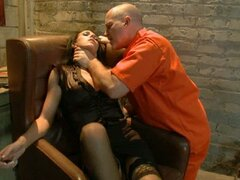 A slut in military uniform gets roughly punished!