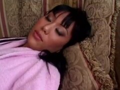 Avena Lee the sweet Asian girl gets fucked on a sofa