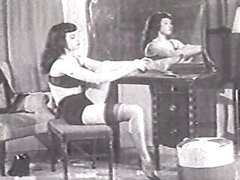 Betty Page stockings