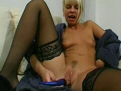 German blonde babe fucked hard on her wet pussy