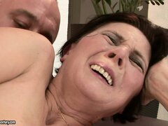 Mature Margo has his cock...