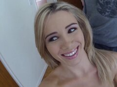 Blonde beauty gets fucked right
