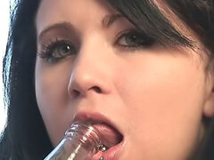 Tender tongue with massive piercing