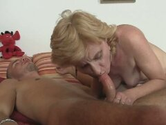 Mother in law rides young stiff cock