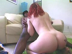Bootylicious Redhead Gets Her Dose Of Big Black Cock