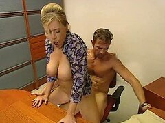 Hardcore Anal Sex For The Busty Blonde Krystal De Boor In The Office