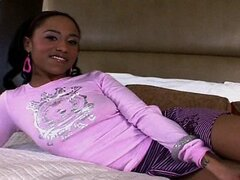 18yr old Petite Black Teen Gets Pounded Hard