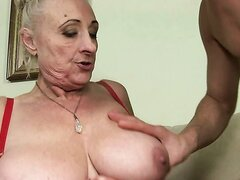 Hot granny Sila is fucking hardcore with a young guy