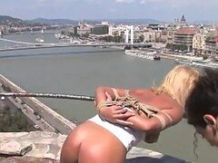 Blonde Bitch Humiliated & Dominated In Public For Being A Cheating Slut
