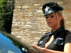 Outdoors Lesbian Sex with a Hot Blonde Cop...