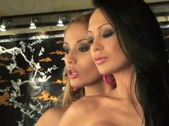 Lex sex with two gorgeous gals