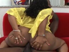 Hardcore sex with slender ebony and bbc