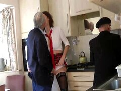 Mature in stockings seducing old men