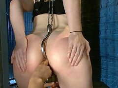 Hooked up Redhead in BDSM Video
