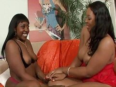 Black lesbian shares Dildo with her gf