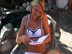 Blond Stepdaughter Turns into Total Slut
