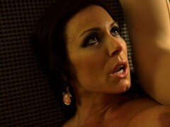 Fine cougar has a fling in a hotel room with her younger lover