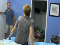 Gay clip of Daddy McKline works his puffies while Kyler...