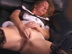 Mature maid masturbating