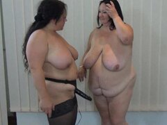 Two fat grannies and toy