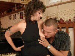 Piano Lesson Turns into Sex Lesson with Randy Mature Slut