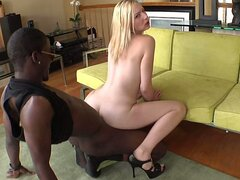 Stretching tight white pussy with