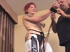 Desperate and redhead bitch with big nipples