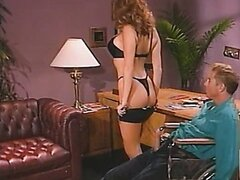 A magazine editor let's Celeste know he's the boss. Watch this babe give him a hand
