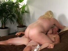 Blonde big tit bbw fucked hard by horny dude