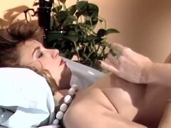 Vintage lesbians in stockings pussy eating and toying