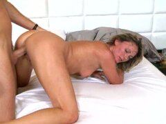 Misty sneaks over to to visit Levi  The MILFhunter for a morning delight.