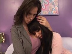 MILF and young girl lesbian sex