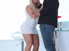 Luscious Blond Wife Has Perfect For Her Man