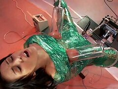 Sexy Brunette Gets Milked And Fucked By A Fucking Machine
