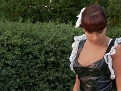 Hot young maid is humiliated