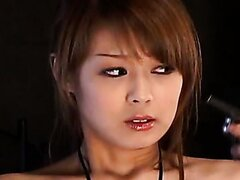 Hot chick Sakurako double blowjob and swallow