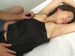 Asian wife gets tied up and teased