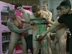 Gay studs cock tortured