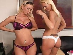 Evil twins blonde lesbians Alli and Molly get fun
