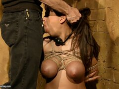 Lovely girl Alison is tied up...