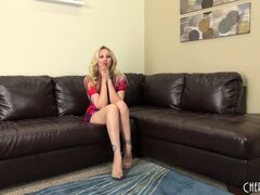 Julia Ann feels lucky today because she will masturbate in front of camera guy and tease him