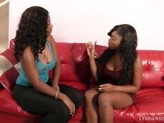 Eager Black Babe Introduced To The World Of Hot Lesbian Sex