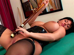 Busty brunette likes to get nasty