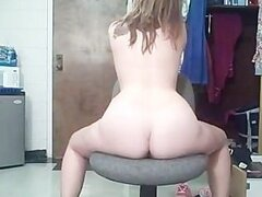horny white girl playing with herself