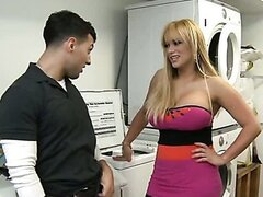 Shyla Stylez is a busty blonde slut. Watch her get seduced in the laundry room