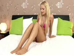 Teen blonde cutie tender solo (720p)
