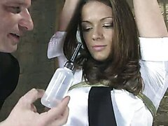 Anal Audition TEN does her first enema just for you