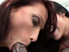 Young brunette gal introduces mom to the infamous big black dick