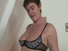 Naughty granny gets lured into threesome
