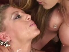 This is Moni's second spit scene, so she's warmed up a bit. It starts out with Chelsea spitting on Moni's beautiful feet and licking it back up. Things get slobbery as the ladies make out covered in saliva. Then Chelsea sucks up the spit with a straw... t